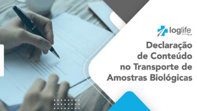 Declaração de Conteúdo no Transporte de Amostras Biológicas